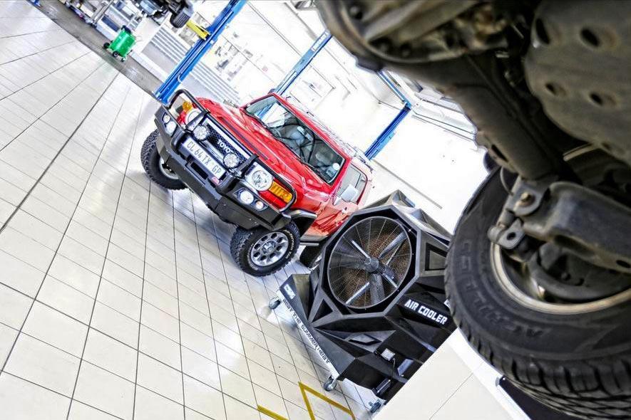 Climatisation Mobile FoxAir dans un garage automobile